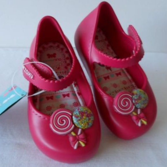 Zaxy Other - 'PICNIC' Pink Soft Mary Jane Jelly Flats